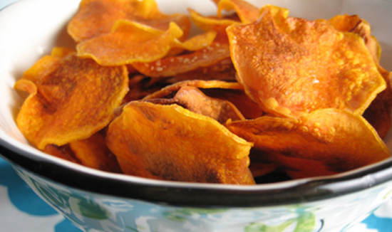http://www.spicysaltysweet.com/2008/12/11/baked-butternut-squash-chips/